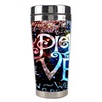 Pierce The Veil Quote Galaxy Nebula Stainless Steel Travel Tumblers Left