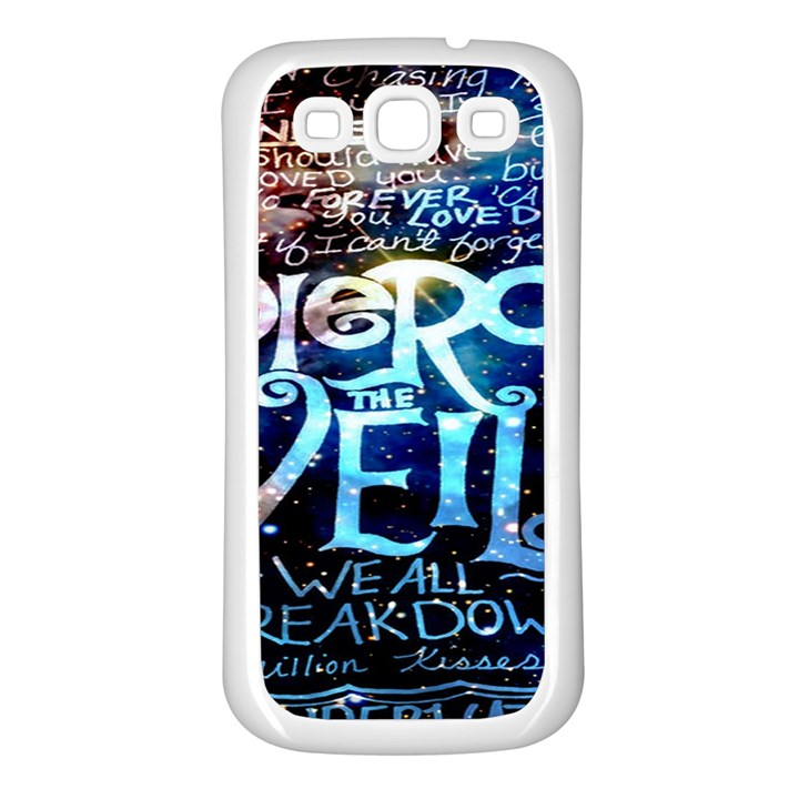 Pierce The Veil Quote Galaxy Nebula Samsung Galaxy S3 Back Case (White)