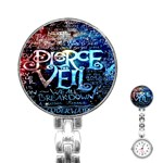 Pierce The Veil Quote Galaxy Nebula Stainless Steel Nurses Watch Front