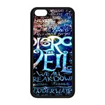 Pierce The Veil Quote Galaxy Nebula Apple iPhone 5C Seamless Case (Black) Front