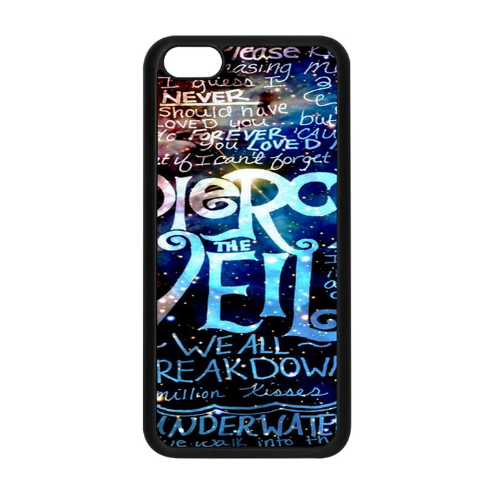 Pierce The Veil Quote Galaxy Nebula Apple iPhone 5C Seamless Case (Black)