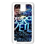 Pierce The Veil Quote Galaxy Nebula Samsung Galaxy Note 3 N9005 Case (White) Front