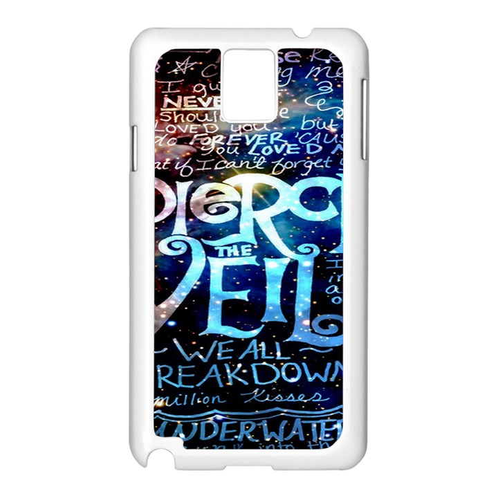 Pierce The Veil Quote Galaxy Nebula Samsung Galaxy Note 3 N9005 Case (White)