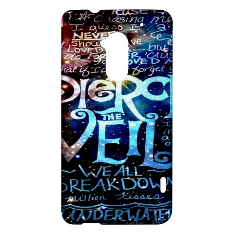 Pierce The Veil Quote Galaxy Nebula HTC One Max (T6) Hardshell Case