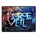 Pierce The Veil Quote Galaxy Nebula Double Sided Fleece Blanket (Small)  50 x40 Blanket Back