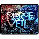 Pierce The Veil Quote Galaxy Nebula Double Sided Fleece Blanket (Medium)  60 x50 Blanket Front