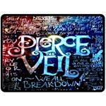 Pierce The Veil Quote Galaxy Nebula Double Sided Fleece Blanket (Large)  80 x60 Blanket Back
