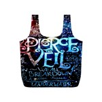 Pierce The Veil Quote Galaxy Nebula Full Print Recycle Bags (S)  Back