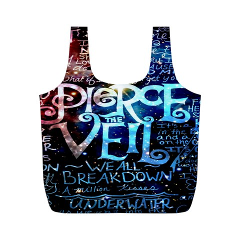 Pierce The Veil Quote Galaxy Nebula Full Print Recycle Bags (M)