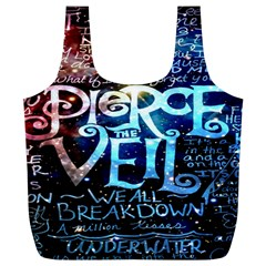 Pierce The Veil Quote Galaxy Nebula Full Print Recycle Bags (L)