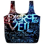 Pierce The Veil Quote Galaxy Nebula Full Print Recycle Bags (L)  Back