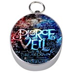 Pierce The Veil Quote Galaxy Nebula Silver Compasses Front