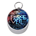 Pierce The Veil Quote Galaxy Nebula Mini Silver Compasses Front