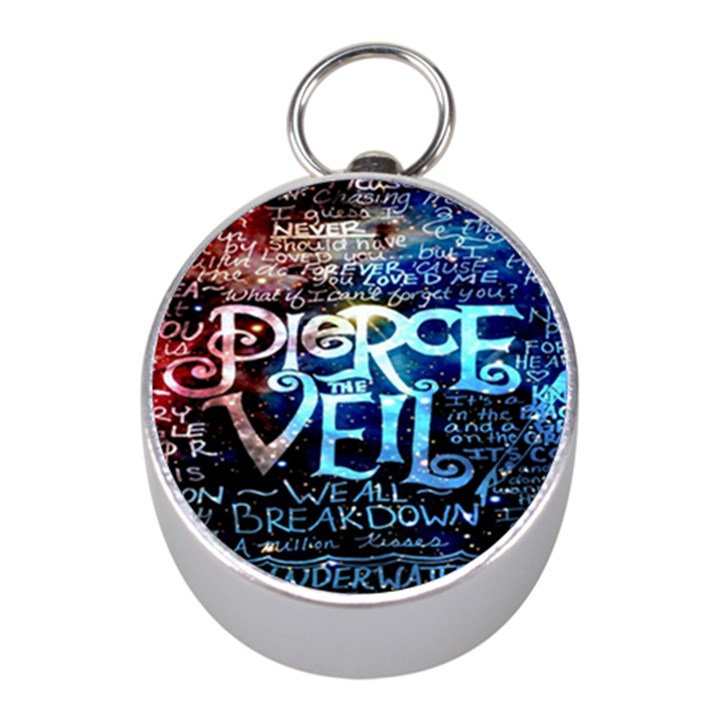 Pierce The Veil Quote Galaxy Nebula Mini Silver Compasses