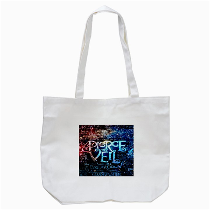 Pierce The Veil Quote Galaxy Nebula Tote Bag (White)