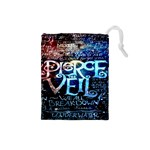 Pierce The Veil Quote Galaxy Nebula Drawstring Pouches (Small)  Front