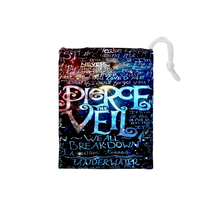 Pierce The Veil Quote Galaxy Nebula Drawstring Pouches (Small)