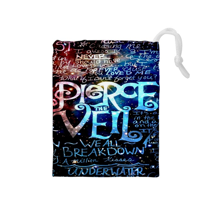 Pierce The Veil Quote Galaxy Nebula Drawstring Pouches (Medium)