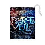 Pierce The Veil Quote Galaxy Nebula Drawstring Pouches (Large)  Front