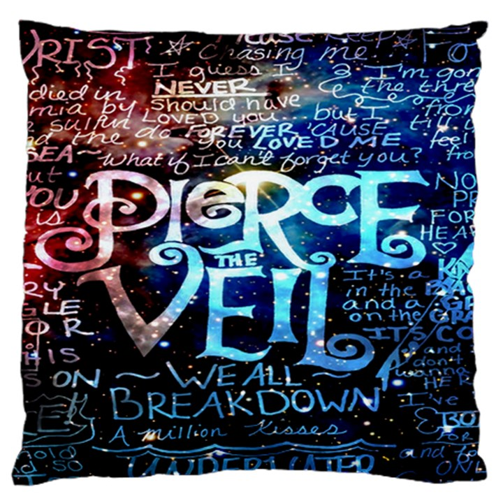 Pierce The Veil Quote Galaxy Nebula Standard Flano Cushion Case (One Side)