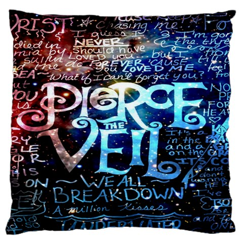 Pierce The Veil Quote Galaxy Nebula Standard Flano Cushion Case (Two Sides)