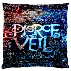 Pierce The Veil Quote Galaxy Nebula Large Flano Cushion Case (One Side)