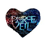 Pierce The Veil Quote Galaxy Nebula Standard 16  Premium Flano Heart Shape Cushions Back