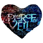 Pierce The Veil Quote Galaxy Nebula Large 19  Premium Flano Heart Shape Cushions Front