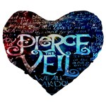 Pierce The Veil Quote Galaxy Nebula Large 19  Premium Flano Heart Shape Cushions Back