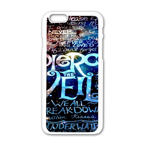 Pierce The Veil Quote Galaxy Nebula Apple iPhone 6/6S White Enamel Case