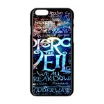 Pierce The Veil Quote Galaxy Nebula Apple iPhone 6/6S Black Enamel Case Front