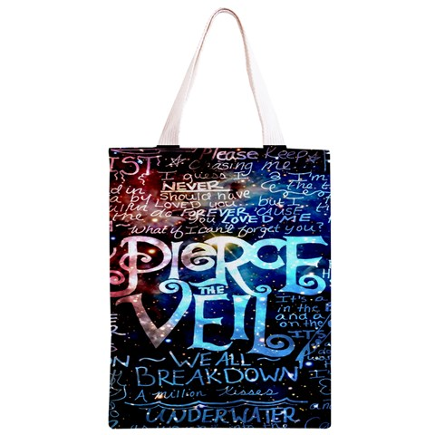 Pierce The Veil Quote Galaxy Nebula Classic Light Tote Bag