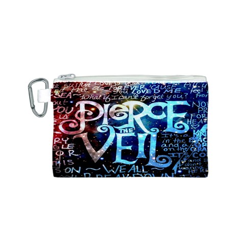 Pierce The Veil Quote Galaxy Nebula Canvas Cosmetic Bag (S)