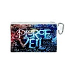 Pierce The Veil Quote Galaxy Nebula Canvas Cosmetic Bag (S) Back
