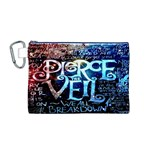 Pierce The Veil Quote Galaxy Nebula Canvas Cosmetic Bag (M) Front