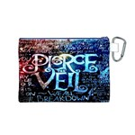 Pierce The Veil Quote Galaxy Nebula Canvas Cosmetic Bag (M) Back