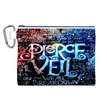 Pierce The Veil Quote Galaxy Nebula Canvas Cosmetic Bag (L) Front