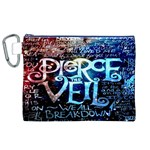 Pierce The Veil Quote Galaxy Nebula Canvas Cosmetic Bag (XL) Front