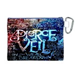 Pierce The Veil Quote Galaxy Nebula Canvas Cosmetic Bag (XL) Back