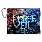 Pierce The Veil Quote Galaxy Nebula Canvas Cosmetic Bag (XXL) Front