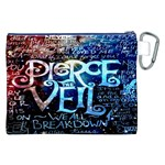 Pierce The Veil Quote Galaxy Nebula Canvas Cosmetic Bag (XXL) Back