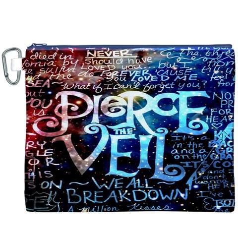 Pierce The Veil Quote Galaxy Nebula Canvas Cosmetic Bag (XXXL)