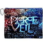 Pierce The Veil Quote Galaxy Nebula Canvas Cosmetic Bag (XXXL) Front
