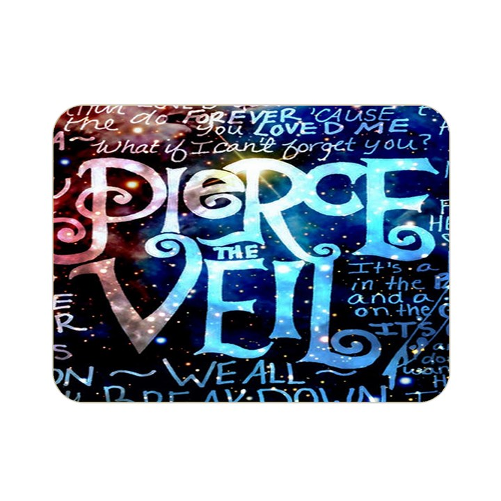 Pierce The Veil Quote Galaxy Nebula Double Sided Flano Blanket (Mini)