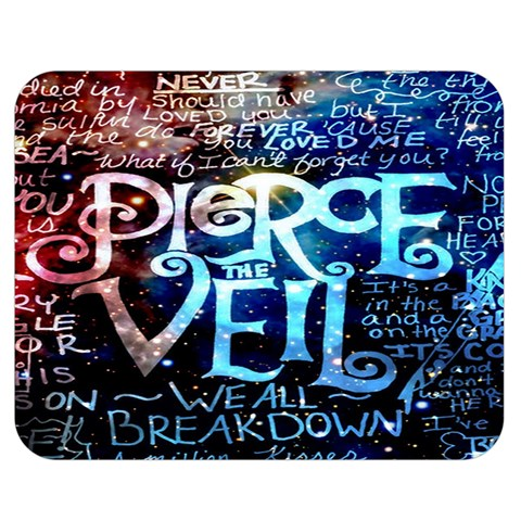 Pierce The Veil Quote Galaxy Nebula Double Sided Flano Blanket (Medium)