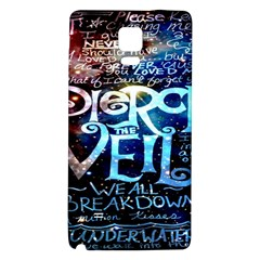 Pierce The Veil Quote Galaxy Nebula Galaxy Note 4 Back Case