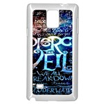 Pierce The Veil Quote Galaxy Nebula Samsung Galaxy Note 4 Case (White) Front