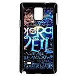 Pierce The Veil Quote Galaxy Nebula Samsung Galaxy Note 4 Case (Black) Front