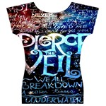 Pierce The Veil Quote Galaxy Nebula Women s V-Neck Cap Sleeve Top Back