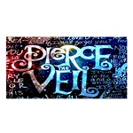 Pierce The Veil Quote Galaxy Nebula Satin Shawl Front